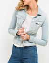LEE Womens Slim Rider Denim Jacket CHAOS BLEACH