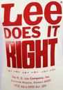 LEE 'Does it Right' Retro Print Vintage Logo Tee E