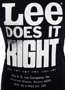 LEE 'Does it Right' Retro Print Vintage Logo Tee N