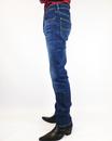 Daren LEE Jeans Retro Regular Slim Denim Jeans EB