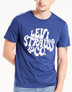 Levis Retro 60s Hippy Logo tee Blue