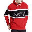 Levi's Retro 90s Colour Block Pieced Hooded Sweatshirt in Red