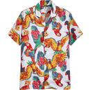 Levi's Cubano Men's Retro 1970s Parrot Print Resort Collar Shirt
