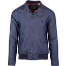 levis mens tartan lined denim Harrington jacket indigo