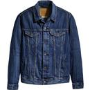Levi's Men's Retro Mod Denim Trucker Jacket in Palmer Blue.