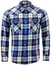 levis barstow retro mod plaid check western shirt
