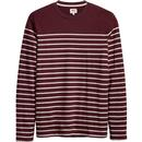 levis mission retro mod ls breton stripe tee fig