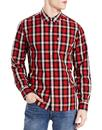 levis sunset 1 pocket retro mod check shirt cherry