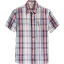 Levi's Retro Mod Sunset 1 Pocket Short Sleeve Check Shirt in Maydole Marshmallow