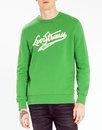 LEVI'S® Retro 1970s Varsity Logo Sweatshirt GREEN