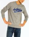levis mens retro 70s varsity logo sweatshirt grey