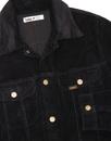 Tejana LOIS Retro 70s Jumbo Cord Jacket BLACK