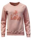 lois womens retro 1970s logo sweatshirt baby pink
