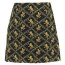 Louche London Womens Monkey Mini Skirt