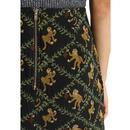 Aubin LOUCHE Retro 60s Monkey Mod Mini Skirt