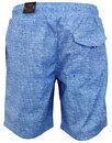 Cagy's LUKE 1977 Retro Knee Length Swim Shorts (S)