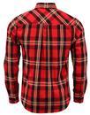 Heyday LUKE 1977 Retro Red Mix Check Flannel Shirt