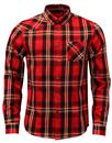 Heyday LUKE 1977 Retro Red Mix Check Flannel Shirt