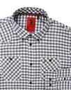 Hooples LUKE 1977 Retro Brushed Cotton Check Shirt