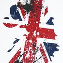 Brit LUKE Retro 1990s Britpop Union Jack Lion Tee