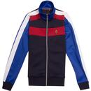 rethorpes luke 1977 cut and sew panel track top navy