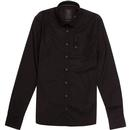 luke 1977 stud of the wood pocket detail shirt black