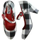 Marianne LULU HUN Vintage Gingham High Heel B/W
