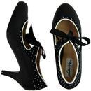 Jeanie LULU HUN Black and White Polka Dot Heels
