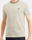 lyle and scott breton stripe tee olive