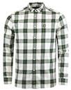 lyle and scott retro mod flannel check shirt leaf