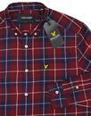 LYLE & SCOTT 60s Mod Button Down Plaid Check Shirt
