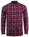 lyle and scott retro mod check button down shirt