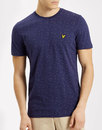 lyle and scott retro indie fil coupe t-shirt navy