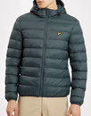 lyle and scott mens retro 80s puffer jacket forest