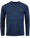 lyle and scott retro unfinished roll neck jumper