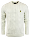 lyle & scott cable knit jumper off white mod