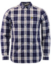 lyle & scott poplin check shirt off white mod