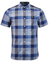 LYLE & SCOTT Retro Sixties Check S/S Shirt NAVY