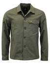 lyle & scott shirt jacket sage mod