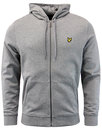 Lyle and Scott Retro 70s Zip Through Hoodie Grey