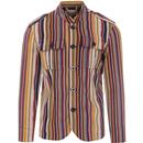 Pepper MADCAP ENGLAND Mod Stripe Cord Tunic Jacket