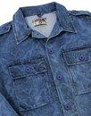 Denim Paisley Lennon MADCAP ENGLAND 60s Mod Jacket