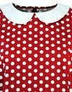 Elysse MADCAP ENGLAND Mod Polkadot Baby Doll Dress