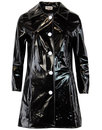 Jackie MADCAP ENGLAND Retro 60s PVC Raincoat BLACK