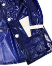 Robin MADCAP ENGLAND Mod 2 Tone PVC Raincoat BLUE