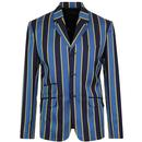 Madcap England Offbeat 1960s Mod Boating Blazer in Blue and Yellow