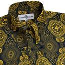 Capo MADCAP ENGLAND Navy 60s Spear Collar Shirt