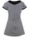 Dollierocker Zig Zag MADCAP ENGLAND 60s Mod Dress