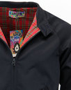 MADCAP ENGLAND Retro Mod Tartan Lined Harrington