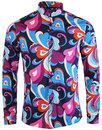 madcap england indra paisley surf retro 60s shirt
